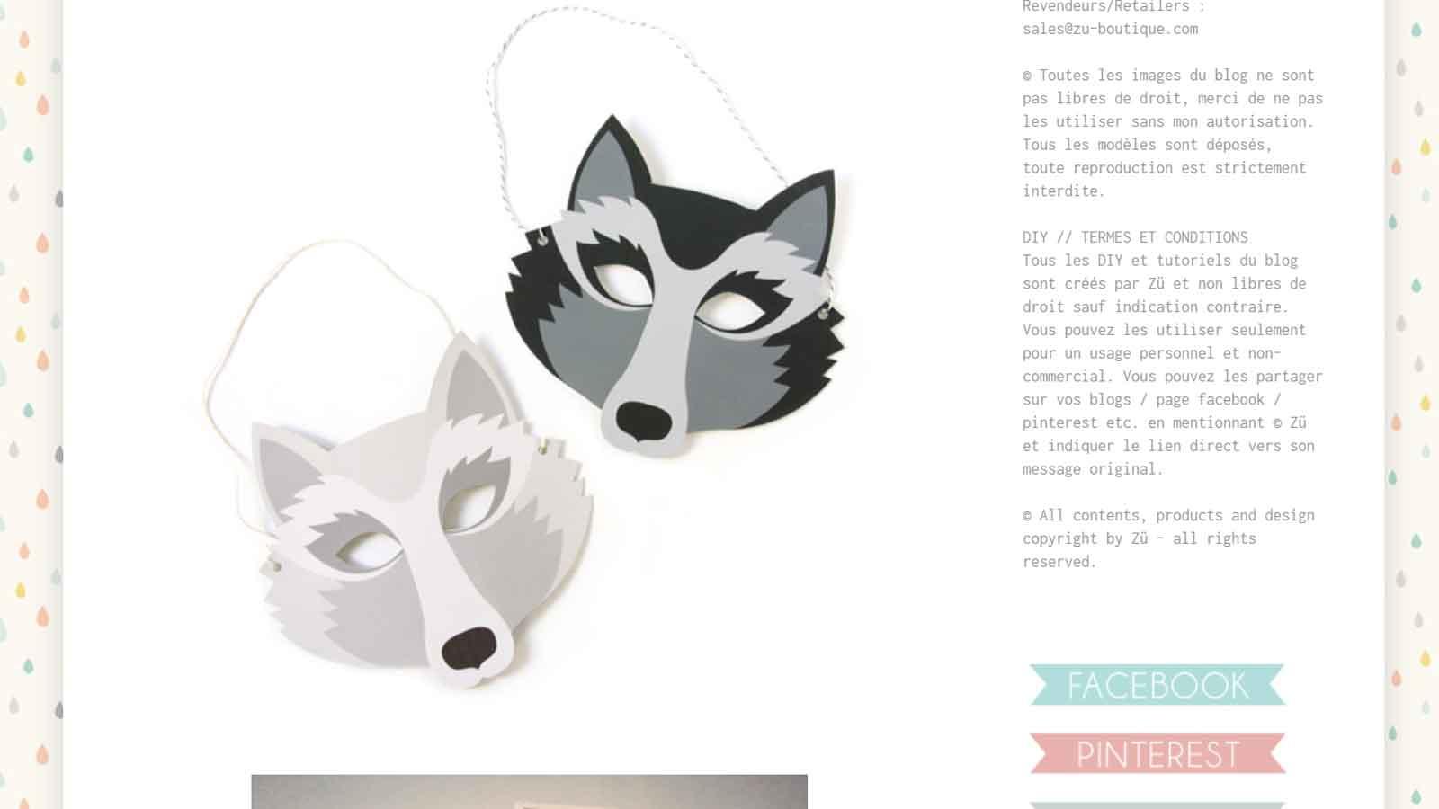 Diy 19 masques gratuits imprimer et d couper soi m me - Masque loup a imprimer ...
