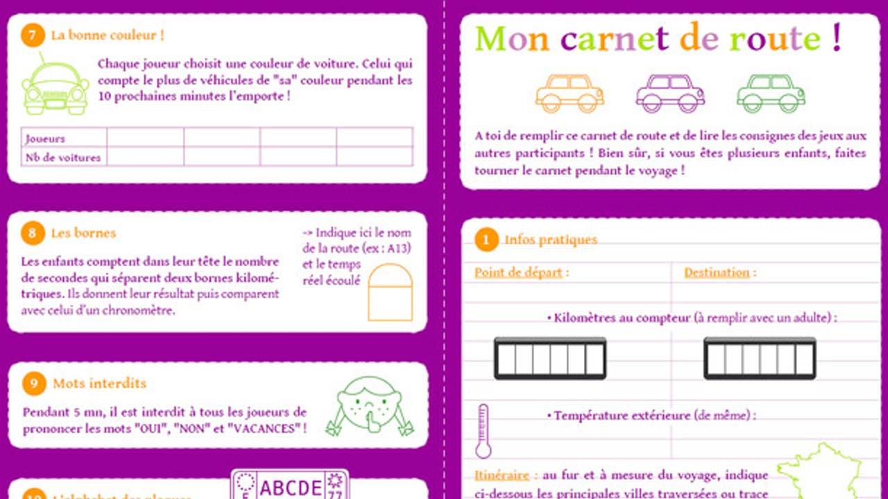 5900becde7429 Ce petit carnet contient une dizaine de jeux qui vont stimuler la curiosité  des enfants. Noter le kilométrage de la voiture