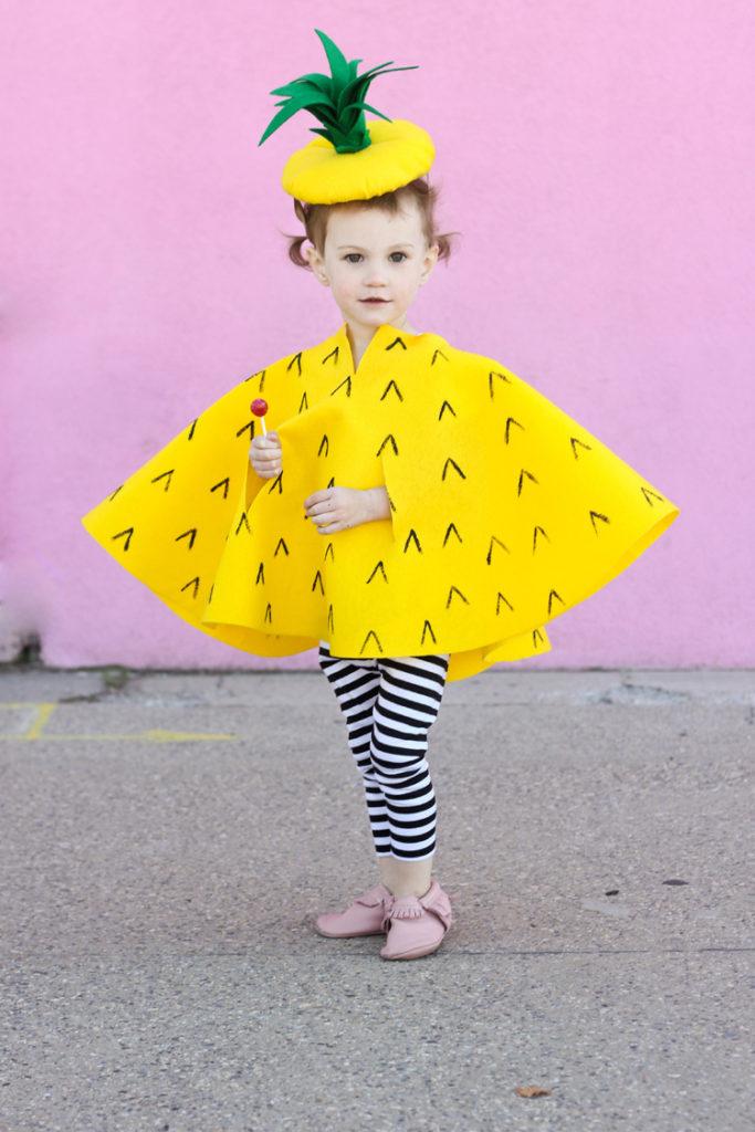 Costume enfant ananas sans couture