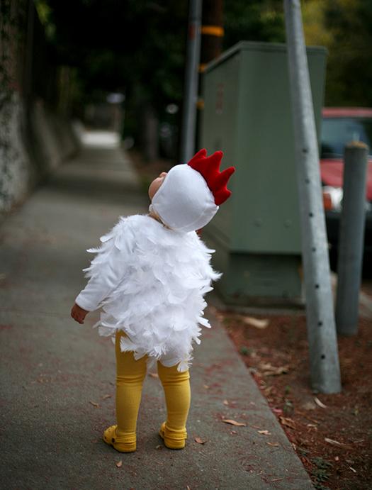 costume bébé poulet